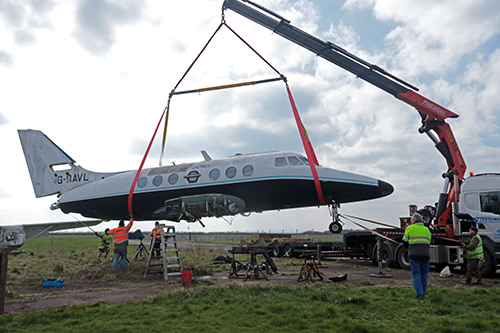 Airborne again - loading at Cranfield