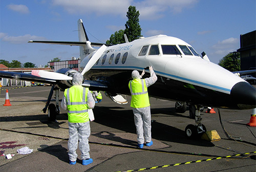 G-RAVL in use by the Cranfield Safety and Accident Investigation Centre